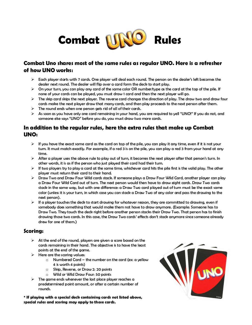 uno instructions draw 4