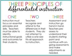 differentiated instruction examples for esl students