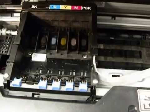 how to clean brother printer heads manually