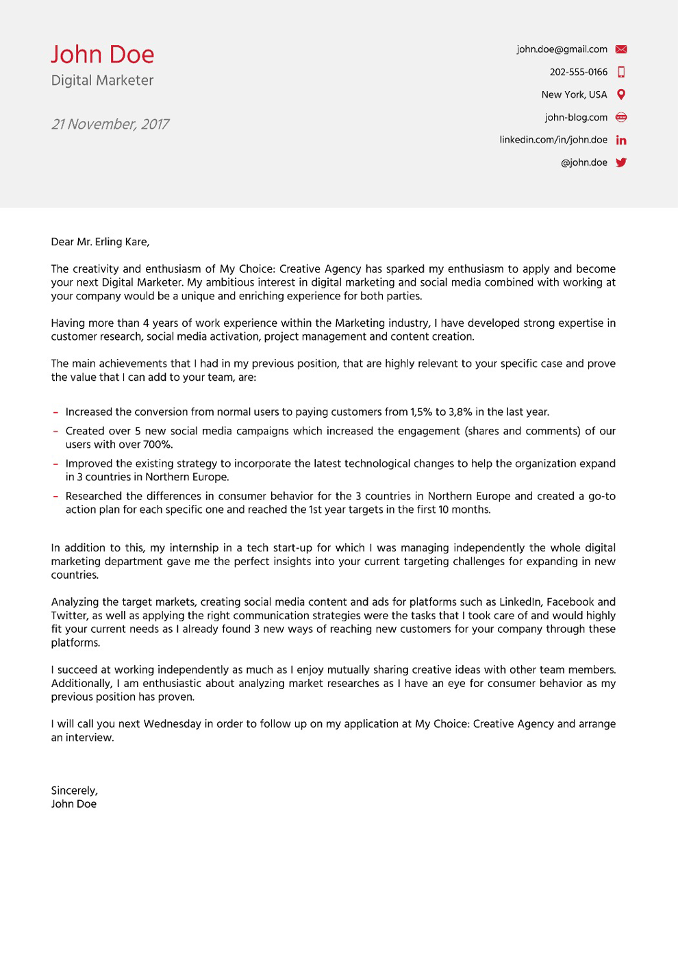 Motivation letter template masters application